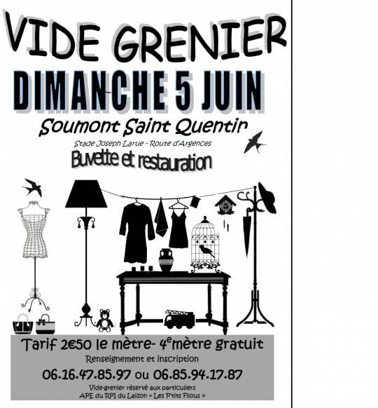soumont saint quentin vide greniers 05 06 2016. Black Bedroom Furniture Sets. Home Design Ideas