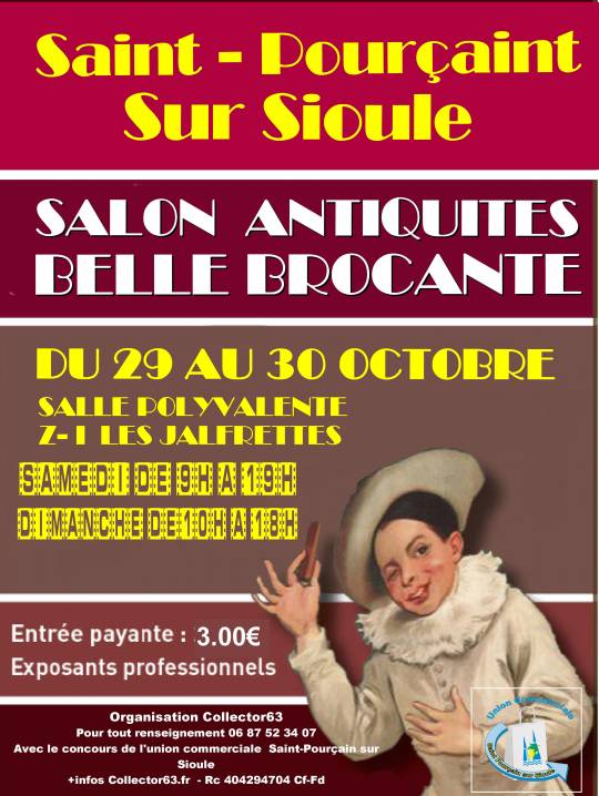 Saint-Pourçain-sur-Sioule - Salon antiquités belle brocante