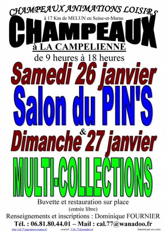 Champeaux - Salon multi-collections à champeaux (77) le 27/01/2019