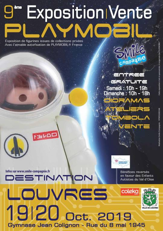 Louvres - Exposition vente jouets playmobil