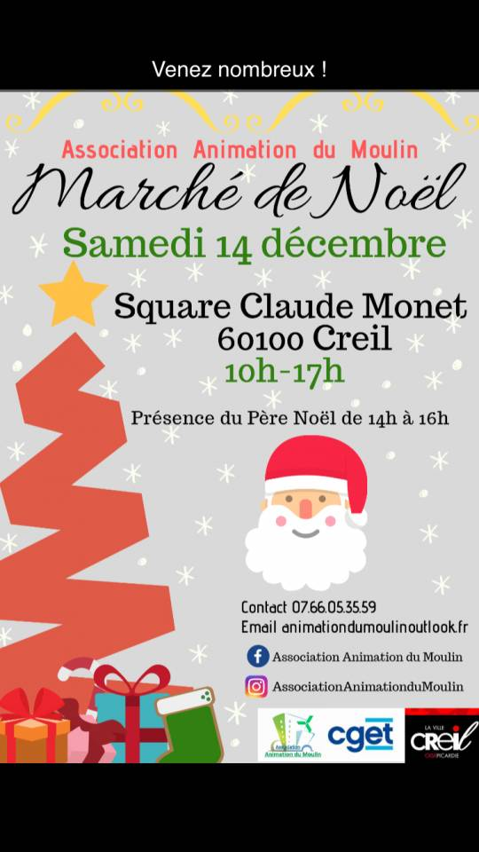 Creil - Marché de noël de l'association animation du moulin
